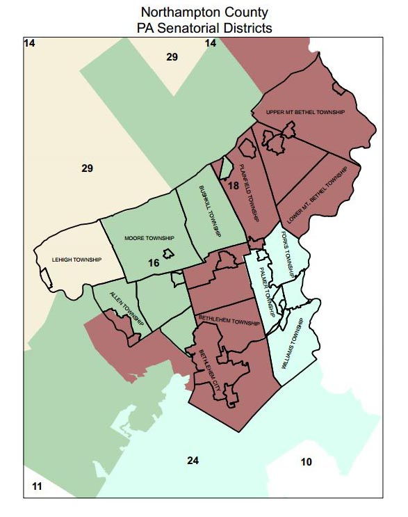 Senate Maps Northampton County Dems